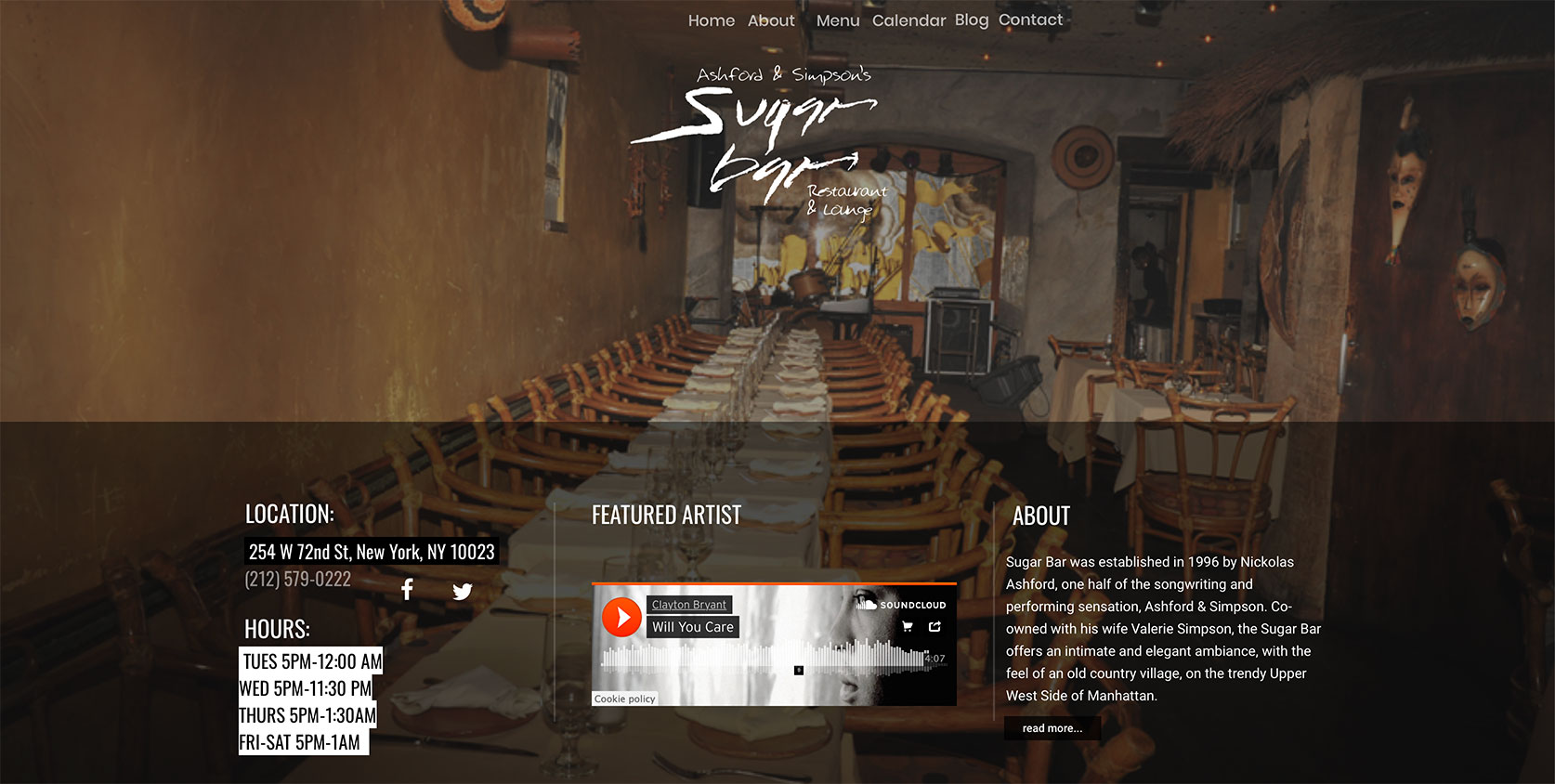 Ashford & Simpson Sugar Bar - Website